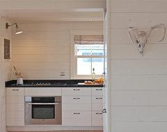 Harbor Cottage, Maine rustic-kitchen