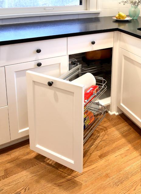 Hard To Reach Corner Cabinet Traditional Kitchen