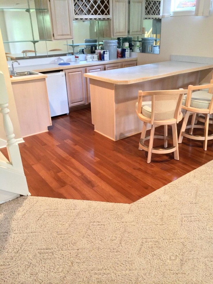 Hardwood   Transitional   Kitchen   Cleveland   by Fremont ...
