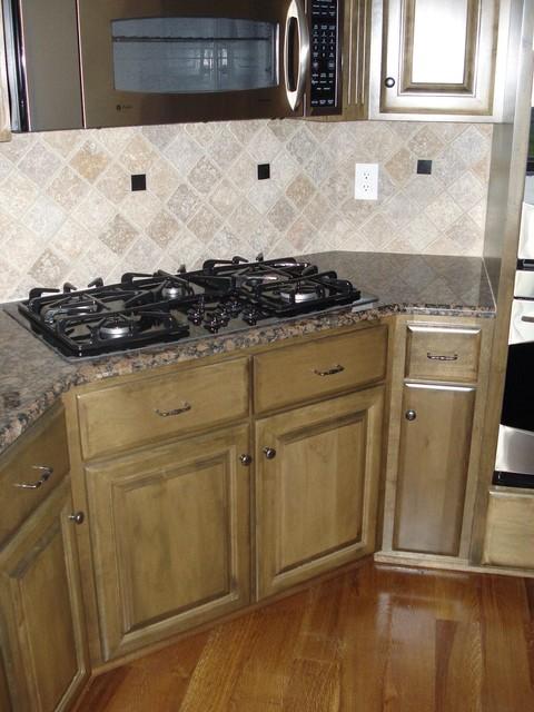 Hardwood, tile backsplash, painting and cabinets kitchen