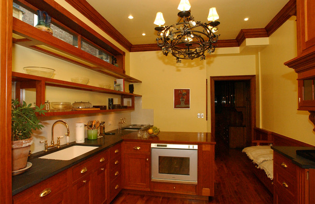Harlem brownstone traditional kitchen new york by for Brownstone kitchen ideas