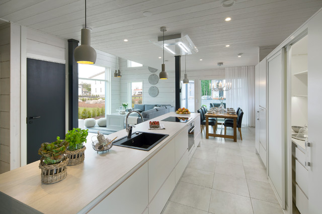 Layout Ideas For An Open Plan Kitchen And Living Space Houzz Uk