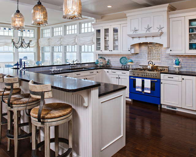 Harvey Cedars Beach Style Kitchen Other Metro By Serenity Design