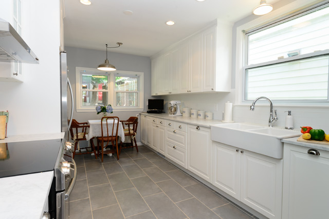 Hastings on hudson victorian renovation transitional for Kitchen cabinets 2019