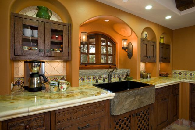 Haute hacienda mediterranean kitchen san diego by hamilton gray design inc - Kitchen designer san diego ...