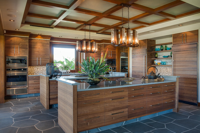 Hawaii 1 Tropical Kitchen Other Metro By Norelco Cabinets Ltd