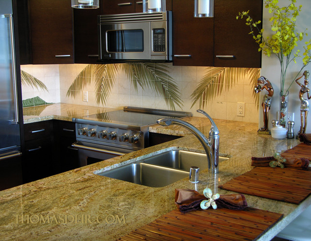 Hawaiian Tropical Fronds Kitchen 4 tropical kitchen