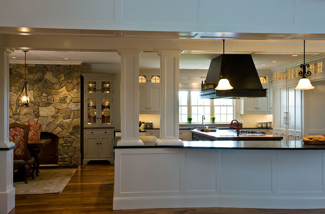 Heart of the home traditional kitchen boston by dalia kitchen design - Half wall kitchen designs ...
