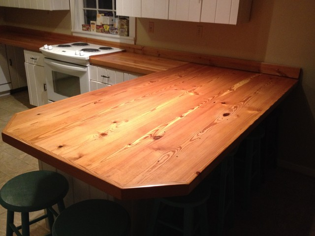 Heart Pine Countertops