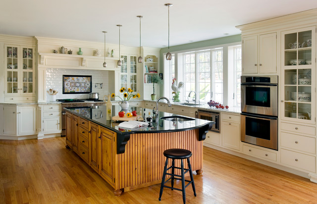 Heartwood Kitchens - Traditional - Kitchen - Boston - by Quality Custom Cabinetry, Inc