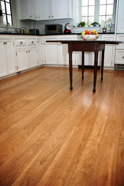 Heartwood red birch floors traditional kitchen for Hardwood floor dealers