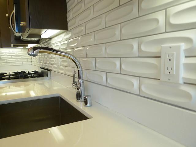 Heath Ceramic Backsplash Close Up Of Outlet