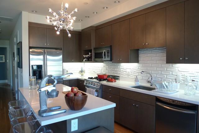 Heath ceramic backsplash contemporary kitchen san for Dimensional tile backsplash