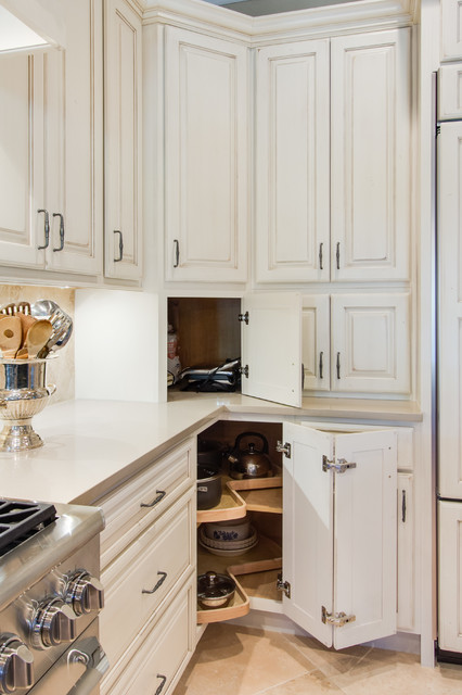 appliance garage and lazy susan - Traditional - Kitchen - dallas - by Kitchen Design Concepts