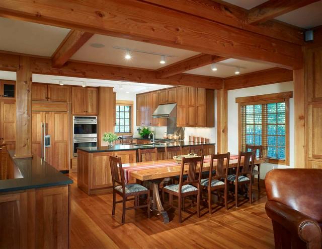 Heavy Timber Tudor traditional-kitchen