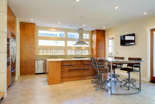 Heights Bungalow Modern Kitchen Houston By Brickmoon Design