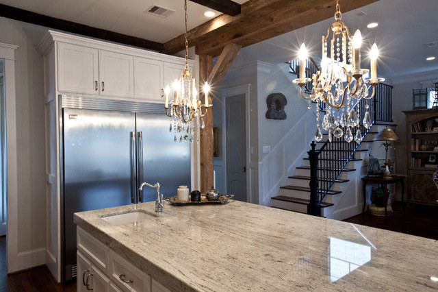 Heights french country traditional kitchen houston