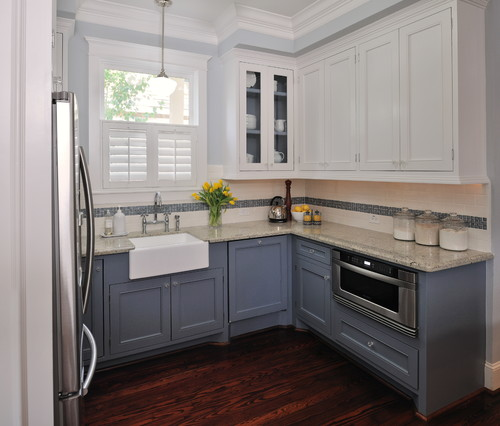 Grey Kitchen Cabinet Images shades of neutral} gray & white kitchens - choosing cabinet colors