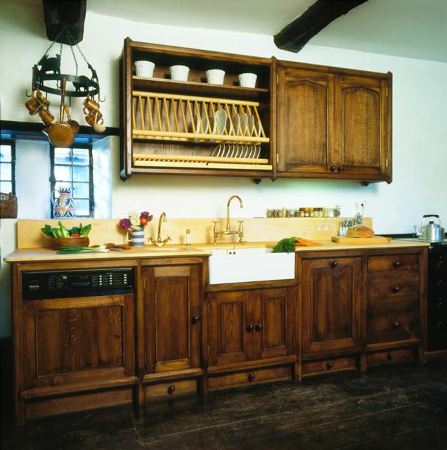 Heinz Dark Oak Kitchen - Traditional - Kitchen - other metro - by Tim Wood Limited