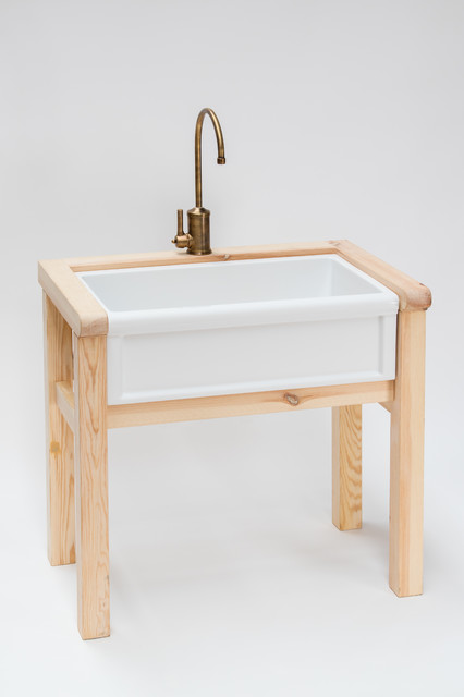 Herbeau Couture French Country Sink Faucet And Wooden Stand