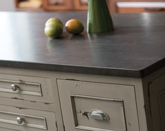 Heritage Paint Kitchen Island contemporary kitchen