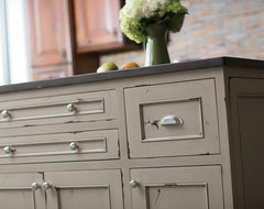 Heritage Paint Kitchen Island contemporary-kitchen