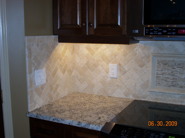 Herringbone travertine backsplash - Backsplash designs travertine ...