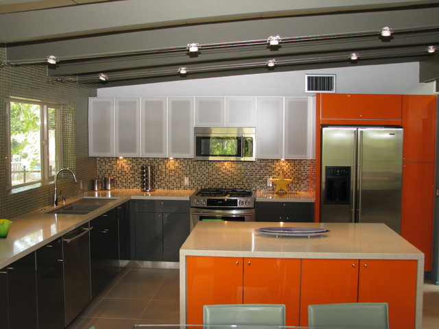 Hgtv bang for your buck kitchen modern kitchen other for Mid century modern kitchen cabinets
