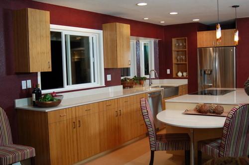 HGTV Rich Red Kitchen