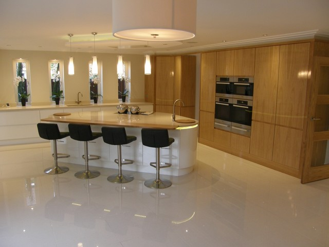 hi gloss veneer tall units white high gloss island