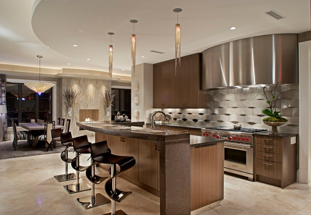 Hi Rise Residential Condo Contemporary Kitchen Atlanta By Hennessee Haven Design Group Llc