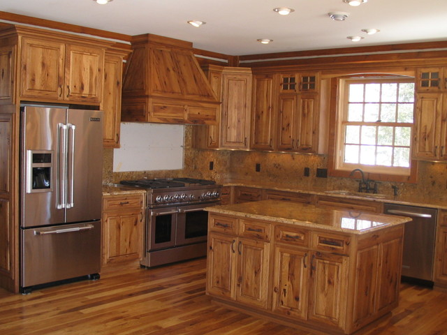 Hickory cabin northern mn rustic kitchen by for Cabin kitchen cabinets
