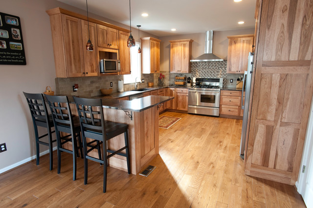 Hickory Cabinets - Traditional - Kitchen - Philadelphia ...