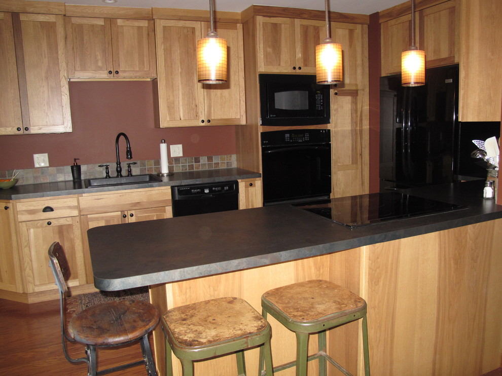 Hickory kitchen cabinets - Traditional - Kitchen - Cedar ...