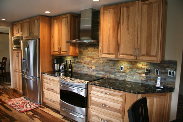 Hickory Raised Panel Kitchen Traditional Kitchen Vancouver By Pacific Coast Kitchens
