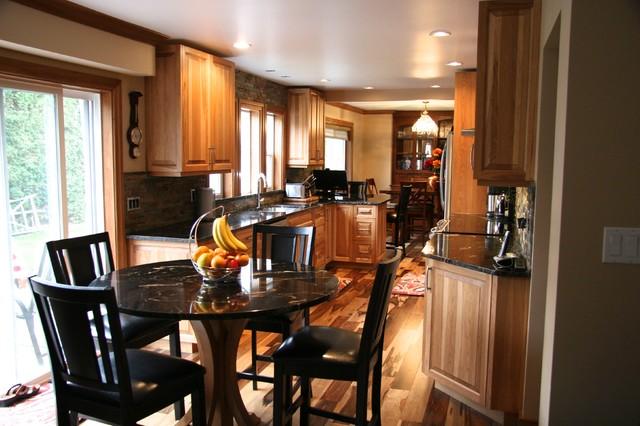 Hickory raised panel kitchen Traditional Kitchen
