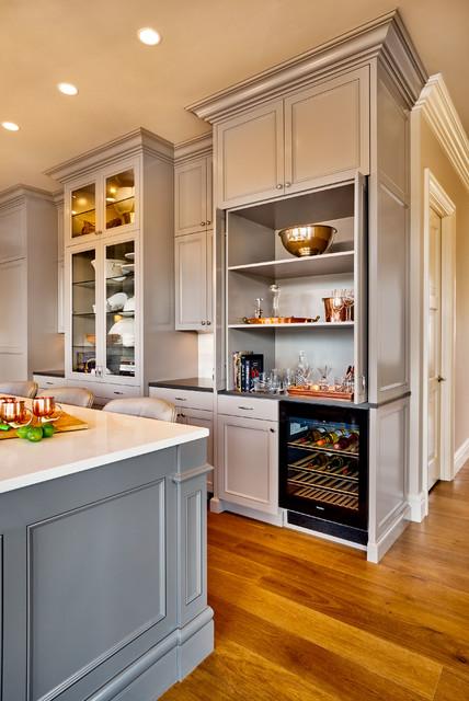 Hidden Bar in Kitchen Cabinets - Traditional - Kitchen ...