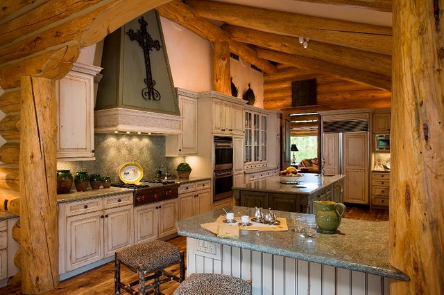 Hidden hills ranches jackson hole wy traditional for Kitchen jackson hole