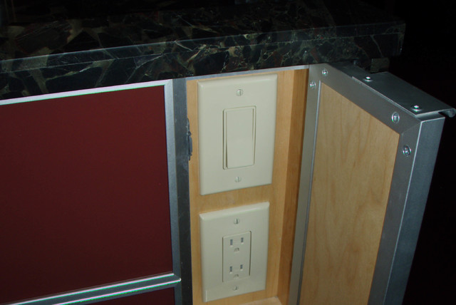 Hidden light-switch and outlet in a Maui Kitchen Island ...