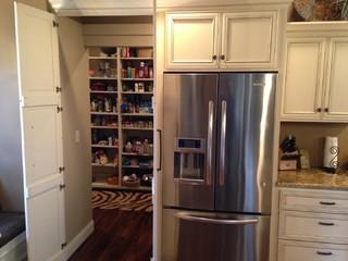 hidden kitchen transitional with - photo #12
