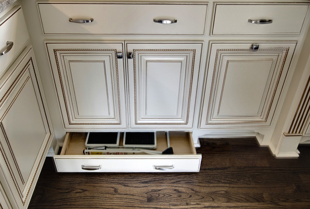 Hidden Step Stool Storage Traditional Kitchen By