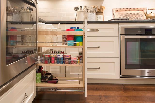 hidden kitchen transitional with - photo #10