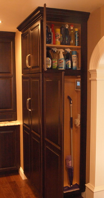 kitchen broom cabinet broom closet amp cleaning supplies storage transitional 18167