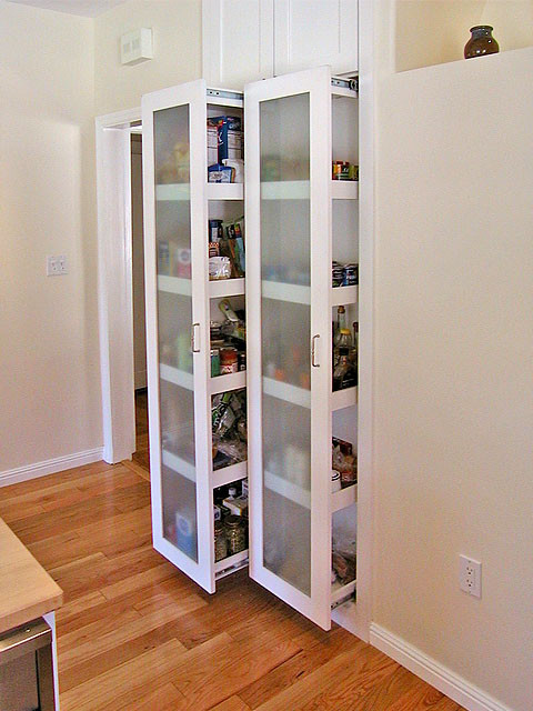 High density storage units on drawer glides. - Traditional - Kitchen - san francisco - by W ...