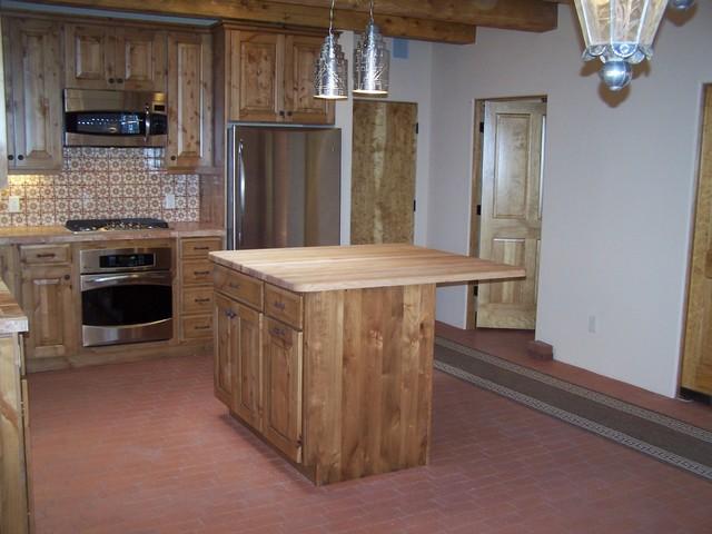 High desert builders rustic kitchen for Albuquerque kitchen cabinets