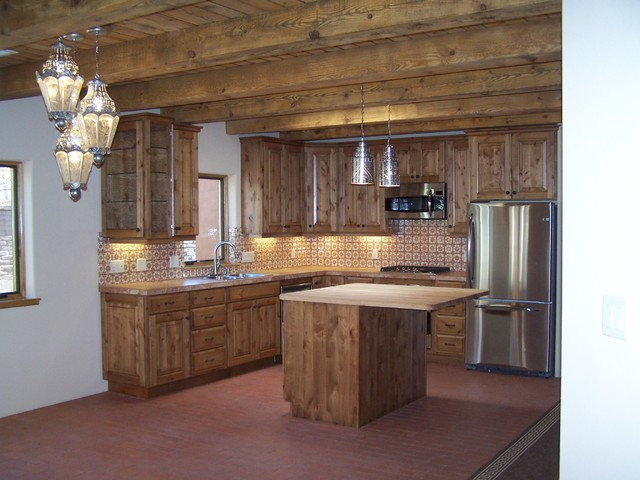 High desert builders rustic kitchen albuquerque by for Rustic home albuquerque