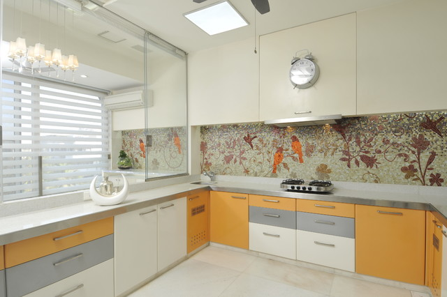 High end residential project at marine drive for Thick kitchen wallpaper