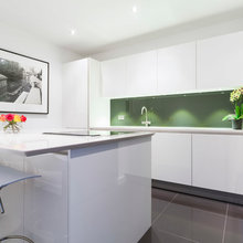 High gloss lacquer white kitchen
