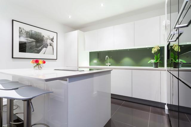 High Gloss Lacquer White Kitchen