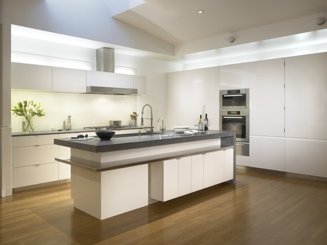 High Gloss Lacquered Cabinets modern-kitchen